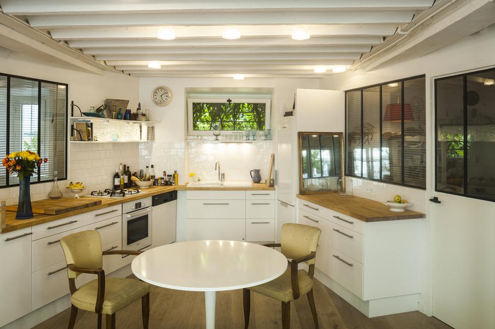 Cuisine Blanche En Bois Cuisine Blanche Et Bois Paris Papier - Cuisine blanche et bois clair