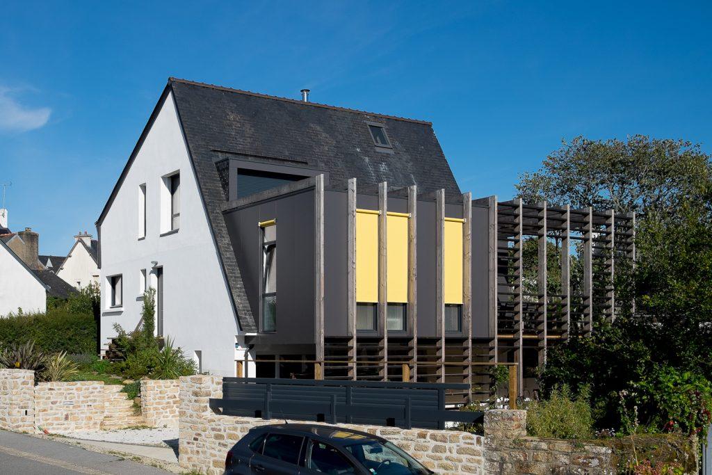 Maison Arradon - extension bois sur maison bretonne